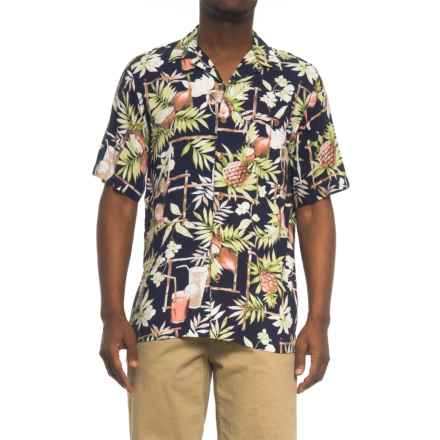 Oliver & Burke Tropical Shirt - Short Sleeve ( For Men) in Navy/Cocktail - Overstock