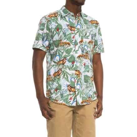 Oliver & Burke Tropical Shirt - Short Sleeve ( For Men) in White/Tiger Awaits - Overstock