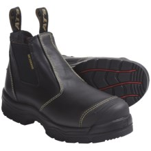 Oliver AT 55-223 Work Boots - Leather, Steel Toe, Metatarsal Guard, Slip-Ons (For Men) in Black - Closeouts