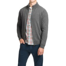 Oliver Perry Cashmere Sweater - Full Zip (For Men) in Ash Heather - Closeouts