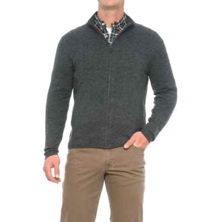Oliver Perry Cashmere Sweater - Full Zip (For Men) in Chalkboard Heather - Closeouts