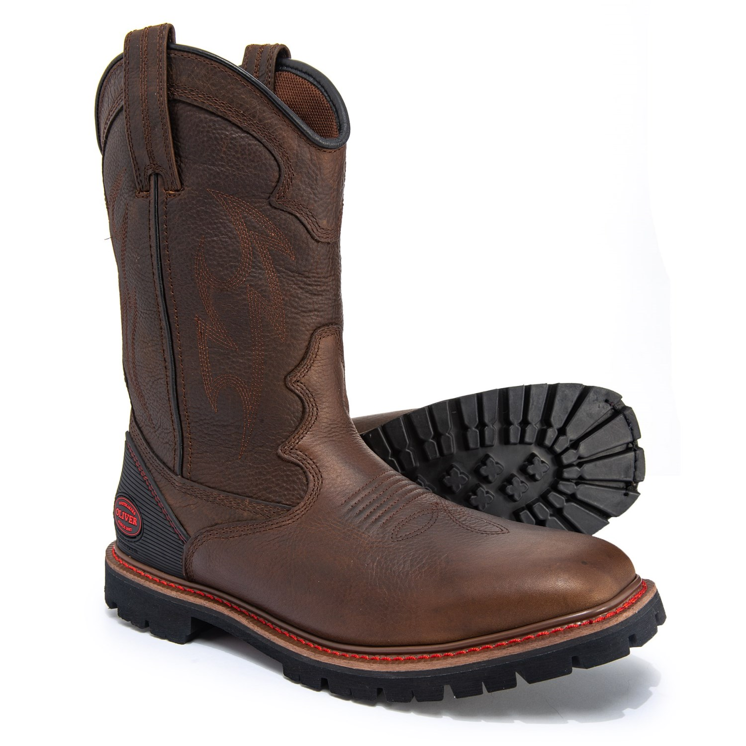 e0039b17b35 Oliver Western Style Square Toe Work Boots - Leather (For Men)
