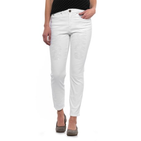 Olivia Fashion Slim Ankle Pants (For Women)