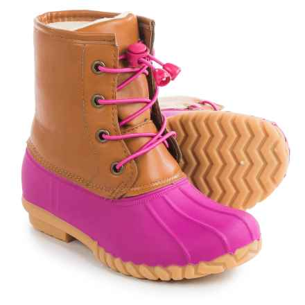Olivia Miller Duck Boots - Waterproof (For Little Girls) in Pink - Closeouts