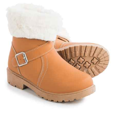 Olivia Miller Foldover Boots (For Little Girls) in Tan - Closeouts