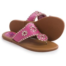 Olivia Miller Girl Flip-Flops (For Little Girls and Big Girls) in Fuchsia - Closeouts