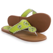 Olivia Miller Girl Flip-Flops (For Little Girls and Big Girls) in Lime - Closeouts
