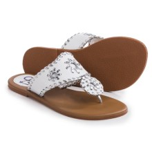 Olivia Miller Girl Flip-Flops (For Little Girls and Big Girls) in White - Closeouts