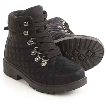 Olivia Miller Quilted Boots (For Little Girls) in Black - Closeouts