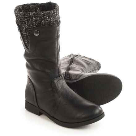 Olivia Miller Tall Boots - Vegan Leather (For Little Girls) in Black - Closeouts