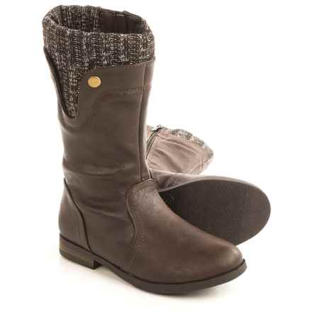 Olivia Miller Tall Boots - Vegan Leather (For Little Girls) in Brown - Closeouts