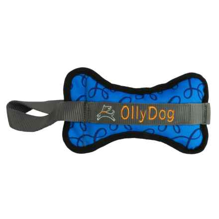 OllyDog Olly Bone II Dog Toy in Blue Loops - Closeouts