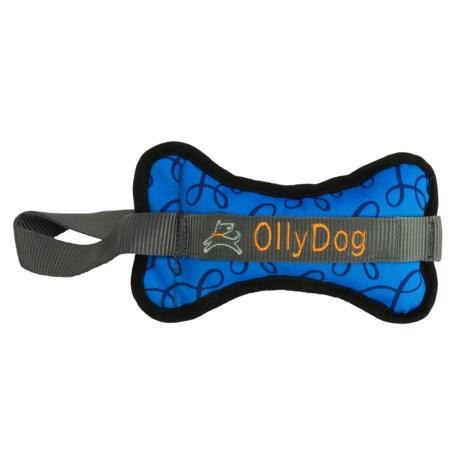 OllyDog Olly Bone II Dog Toy in Blue Loops