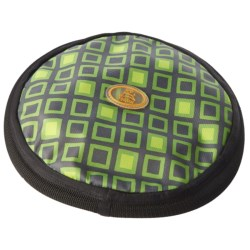 OllyDog Olly Flyer Dog Toy in Green Squares