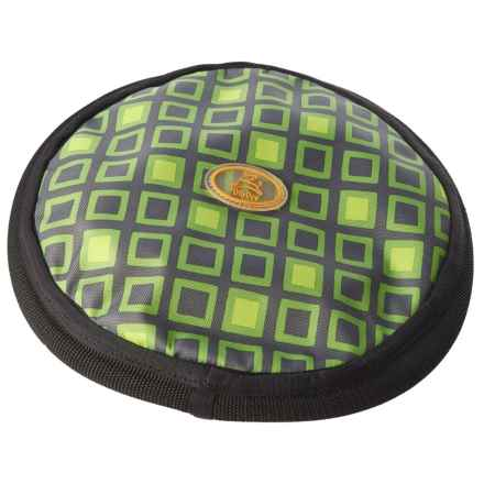OllyDog Olly Flyer Dog Toy in Green Squares - Closeouts