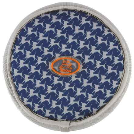 OllyDog Olly Flyer Dog Toy in Navy Houndstooth - Closeouts