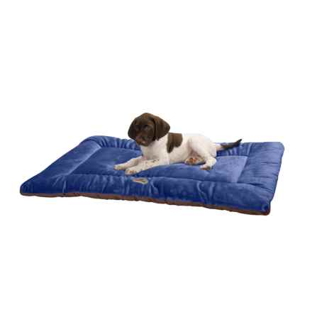 "OllyDog Plush Dog Bed - 24x17"", Small in Blue/Chocolate - Overstock"