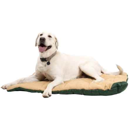 "OllyDog Travel Bed - Large, 40x30"" in Khaki/Forest - Closeouts"