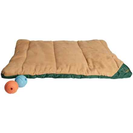 "OllyDog Travel Bed - Medium, 30x23"" in Khaki/Forest - Closeouts"