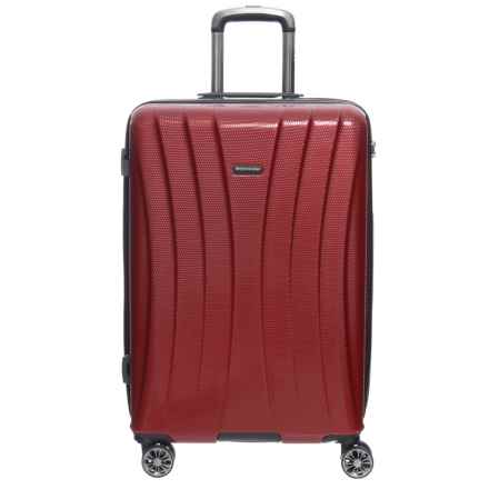 """Olympia 25"""" Athena Hardside Spinner Suitcase in Wine - Closeouts"""