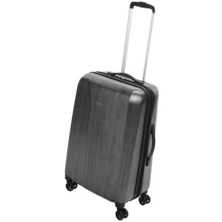 """Olympia Aerolite Carry-On Spinner Suitcase - 21"""" in Charcoal Grey - Closeouts"""