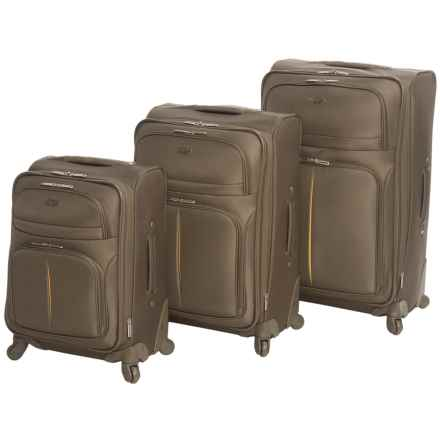 Olympia Broadway Expandable Spinner Suitcase Set - 3-Piece in Olive - Closeouts