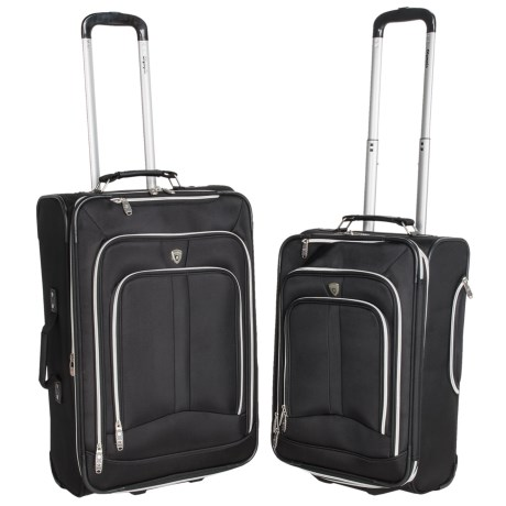Olympia Hamburg Expandable Rolling Suitcase 2 Piece, 21 and 25 Nested