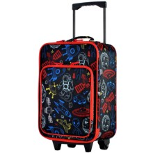 """Olympia Kids Playday Collection Rolling Carry-On Suitcase - 19"""" in Space - Closeouts"""