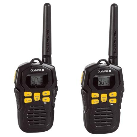 Olympia R100 Two-Way Radios in Black