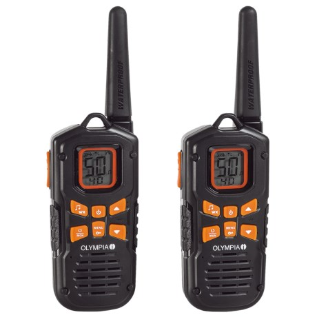 Olympia R500 Two-Way Radios - 2-Pack in Black
