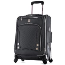 "Olympia Skyhawk Carry-On Spinner Suitcase - 22"" in Black - Closeouts"