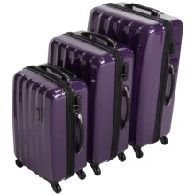 "Olympia Titan Hardside 360 Spinner Luggage Set - 3-Piece, 21"", 25"" and 29"" Nested in Purple - Closeouts"