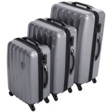 "Olympia Titan Hardside 360 Spinner Luggage Set - 3-Piece, 21"", 25"" and 29"" Nested in Silver - Closeouts"