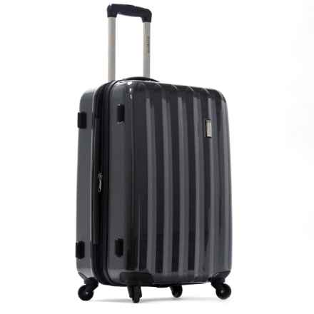 """Olympia Titan Hardside Expandable Carry-On Spinner Suitcase - 21"""" in Black - Closeouts"""