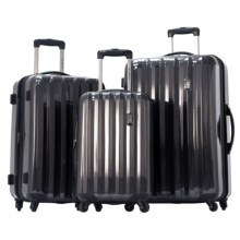 Olympia Titan Hardside Spinner Luggage Set - 3-Piece in Black - Closeouts