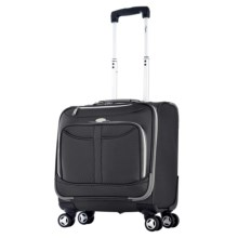 "Olympia Tuscany Overnight Spinner Suitcase - 17"" in Black - Closeouts"