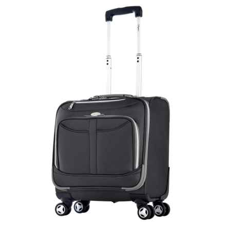 """Olympia Tuscany Overnight Spinner Suitcase - 17"""" in Black - Closeouts"""