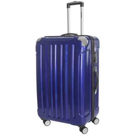 """Olympia Whistler Spinner Carry-On Suitcase - 25"""", Hardside in Metallic Blue - Closeouts"""