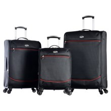 "Olympia Zephyr Expandable Spinner Luggage Set - 3-Piece, 24"", 25"" and 30"" Nested in Black - Closeouts"