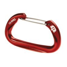 Omega Pacific Doval Carabiner - Wire Gate in Red - Closeouts