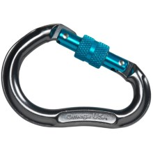 Omega Pacific Jake Screw-Lok Carabiner in Pewter - Closeouts