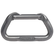 Omega Pacific Straight Gate-D Carabiner in Grey - Closeouts