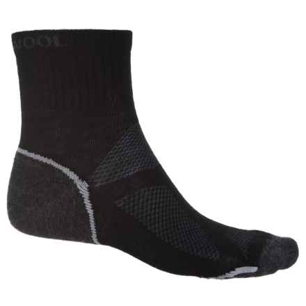 Omni Wool Endurance Pro Light Socks - Merino Wool, Quarter Crew (For Men and Women) in Black/Charcoal - Closeouts