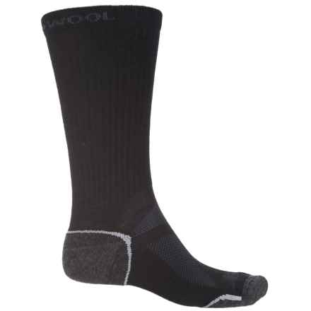 Omni Wool Endurance Pro Lightweight Socks - Merino Wool, Crew (For Men and Women) in Black/Charcoal - Closeouts