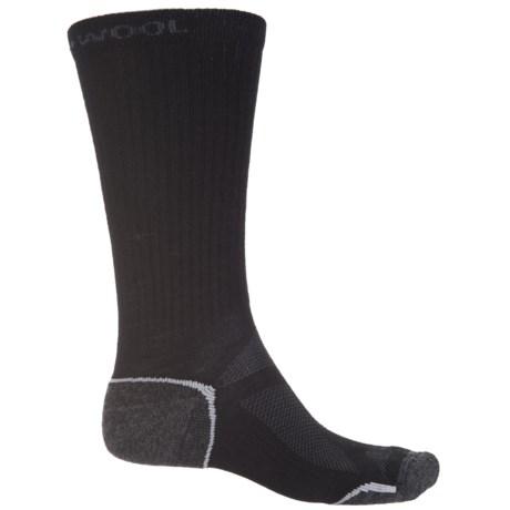 Omni Wool Endurance Pro Lightweight Socks - Merino Wool, Crew (For Men and Women) in Black/Charcoal