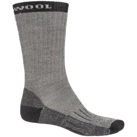 Omni Wool Hiking Pro Medium Socks - Merino Wool, Crew (For Men and Women) in Charcoal