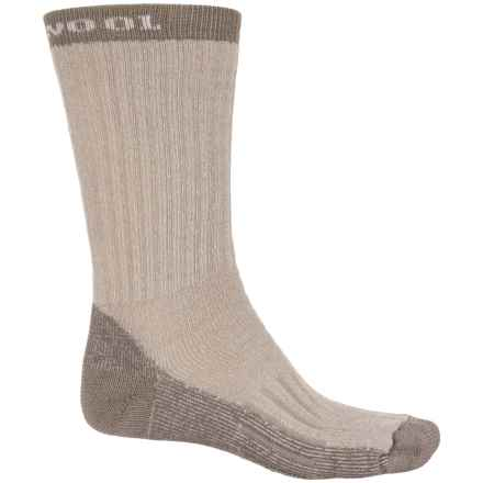 Omni Wool Hiking Pro Medium Socks - Merino Wool, Crew (For Men and Women) in Tan - Closeouts