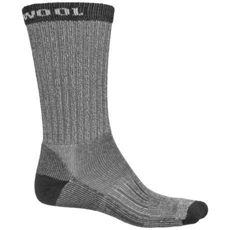Omni Wool Hiking Pro Socks - Merino Wool, Crew (For Men and Women) in Charcoal
