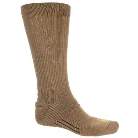 224226cba Omni Wool Lightweight Utility Boot Socks - Crew (For Men and Women) in Brown