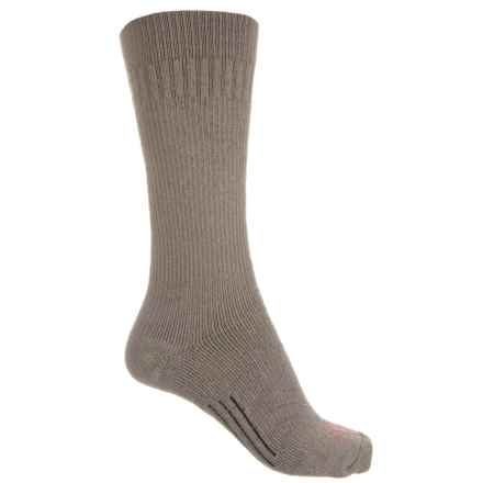 Omni Wool Midweight Utility Boot Socks - Crew (For Men) in Slate/Red - 2nds